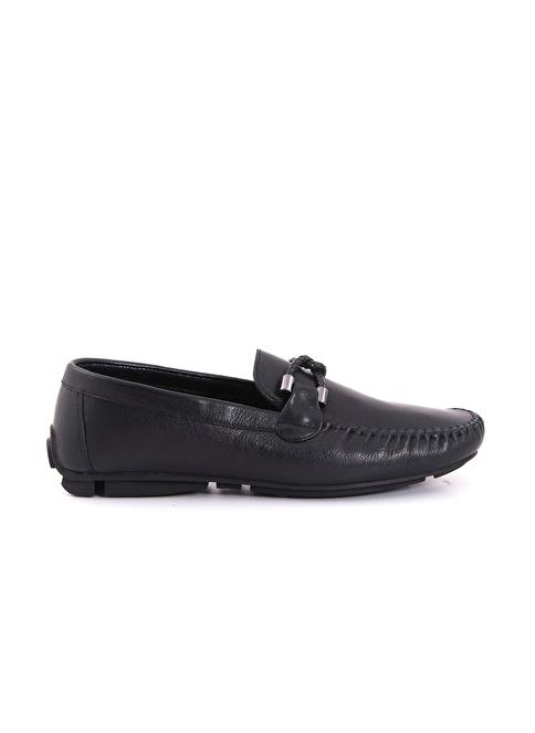Kemal Tanca %100 Deri Loafer Ayakkabı Siyah